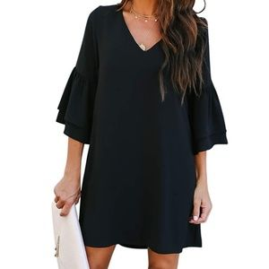 Women's Dress Sweet & Cute V-Neck Bell Sleeve
